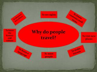 Why do people travel ?