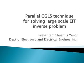 Parallel  CGLS technique for solving large scale EIT inverse  problem
