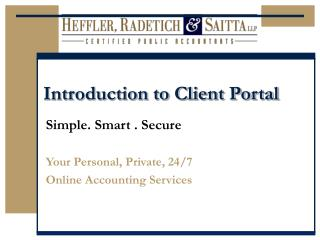 Introduction to Client Portal