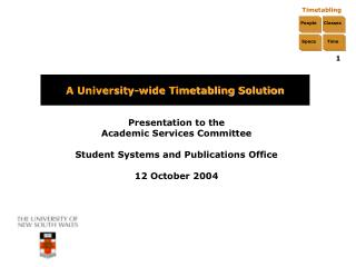 A University-wide Timetabling Solution