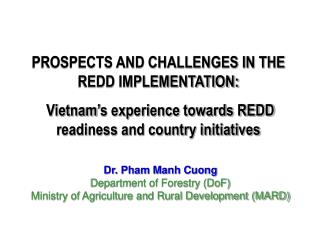 PROSPECTS AND CHALLENGES IN THE REDD IMPLEMENTATION: