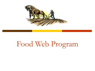 Food Web Program