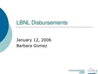 LBNL Disbursements