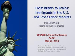 SDC/BIDC Annual Conference Austin May 22, 2013