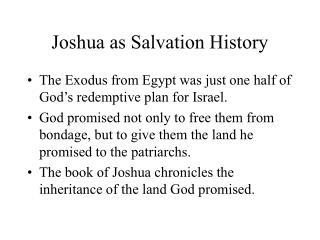 Joshua as Salvation History
