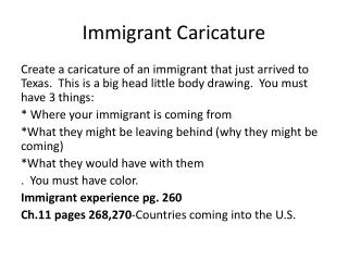 Immigrant Caricature