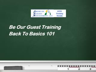 Be Our Guest Training Back To Basics 101