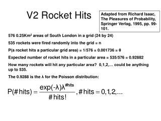 V2 Rocket Hits
