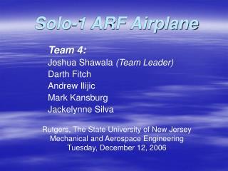 Solo-1 ARF Airplane