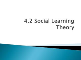 4.2  Social Learning Theory