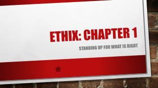 Ethix : Chapter 1