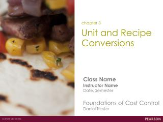 Unit and Recipe Conversions