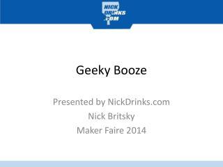 Geeky Booze