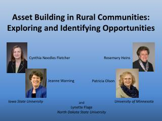 Asset Building in Rural Communities: Exploring and Identifying Opportunities