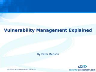 Vulnerability Management Explained