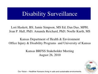Disability Surveillance