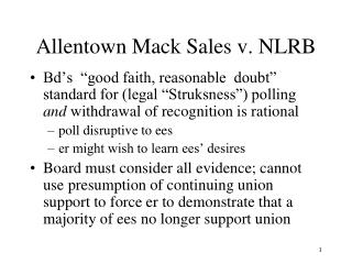 Allentown Mack Sales v. NLRB