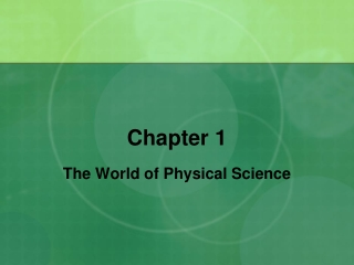 World of Physical Science