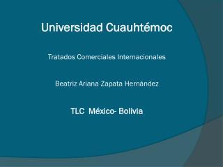 TLC   México-Bolivia