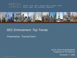 SEC Enforcement: Top Trends
