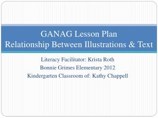 GANAG Lesson Plan Relationship Between Illustrations & Text