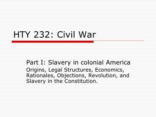 HTY 232: Civil War