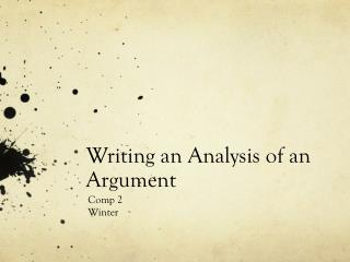 Writing an Analysis of an Argument
