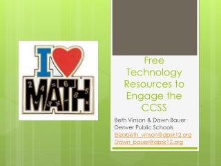 Free Technology Resources to Engage the CCSS