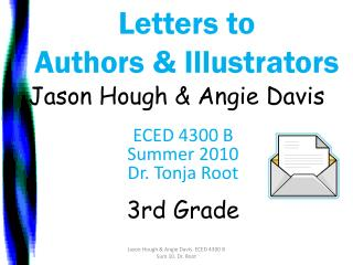 Letters to  Authors & Illustrators