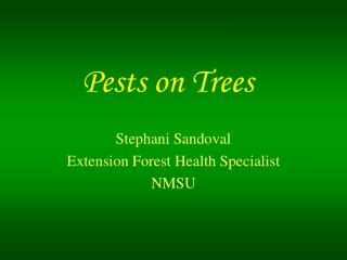 Pests on Trees
