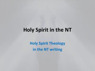 Holy Spirit in the NT