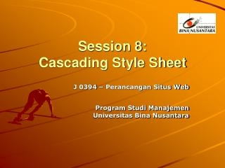 Session 8: Cascading Style Sheet