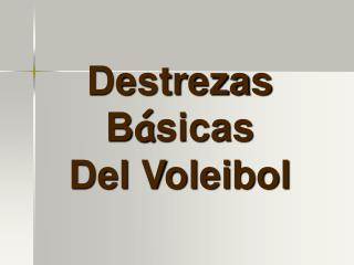 Destrezas B � sicas Del Voleibol