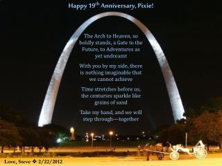 Happy 19 th  Anniversary, Pixie!