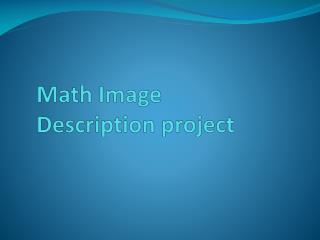 Math Image  Description project