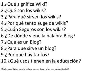 ¿Qué significa Wiki? ¿Qué son los wikis?  ¿Para qué sirven los wikis?