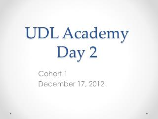 UDL Academy Day 2