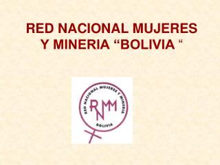 """RED NACIONAL MUJERES Y MINERIA """"BOLIVIA  """""""