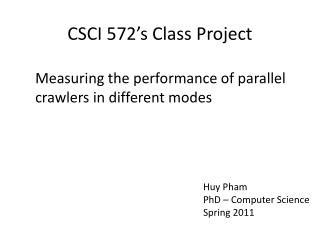 CSCI 572�s Class Project