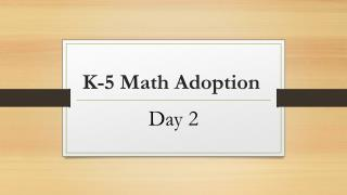 K-5 Math Adoption