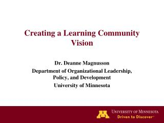 Creating a Learning Community Vision