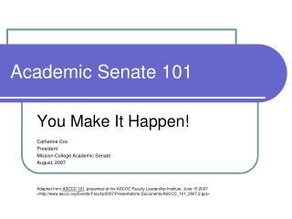 Academic Senate 101