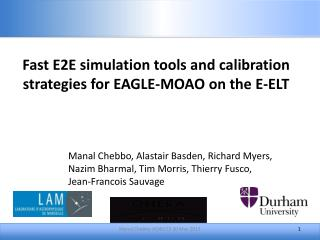 Fast E2E simulation tools and calibration strategies for  EAGLE-MOAO  on the E-ELT