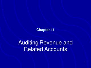 Auditing Revenue and Related Accounts