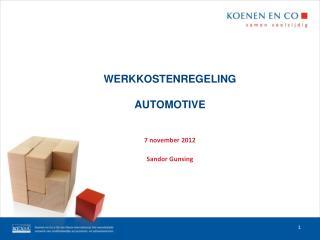 WERKKOSTENREGELING AUTOMOTIVE