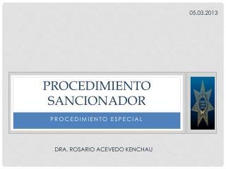 PROCEDIMIENTO SANCIONADOR