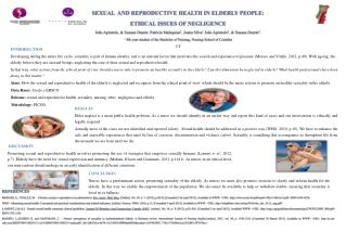 SEXUAL  AND REPRODUCTIVE HEALTH IN ELDERLY PEOPLE:  ETHICAL  ISSUES OF NEGLIGENCE
