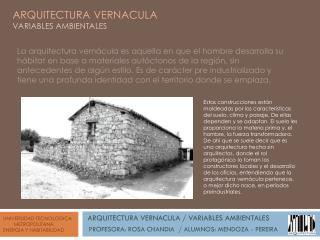 UNIVERSIDAD TECNOLOGICA         METROPOLITANA ENERGIA Y HABITABILIDAD