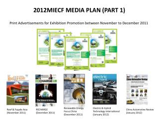 2012MIECF MEDIA PLAN (PART 1)