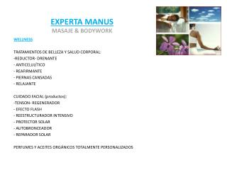EXPERTA MANUS MASAJE & BODYWORK